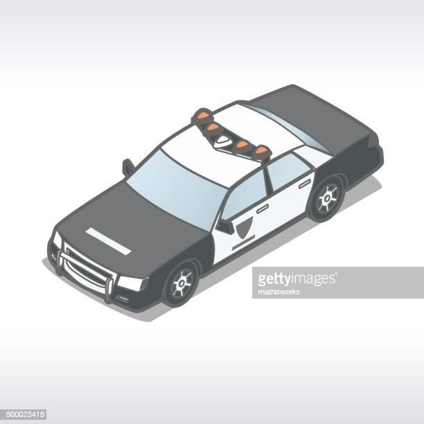 polizeiauto illustrationen - mathisworks stock-grafiken, -clipart, -cartoons und -symbole