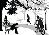 Police Cycling In The Park