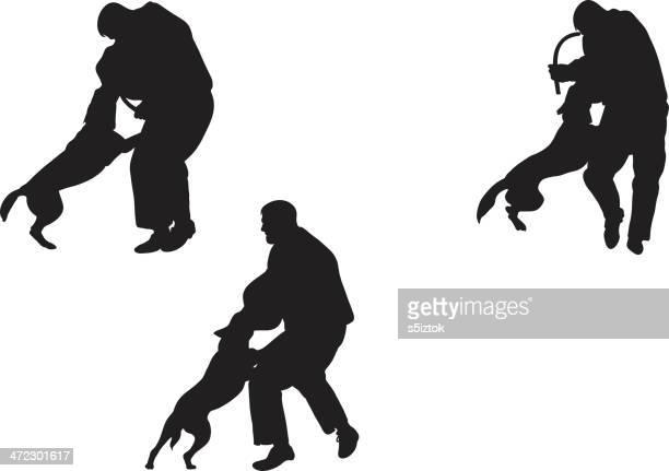 illustrations, cliparts, dessins animés et icônes de chien de police entraînement - berger belge malinois