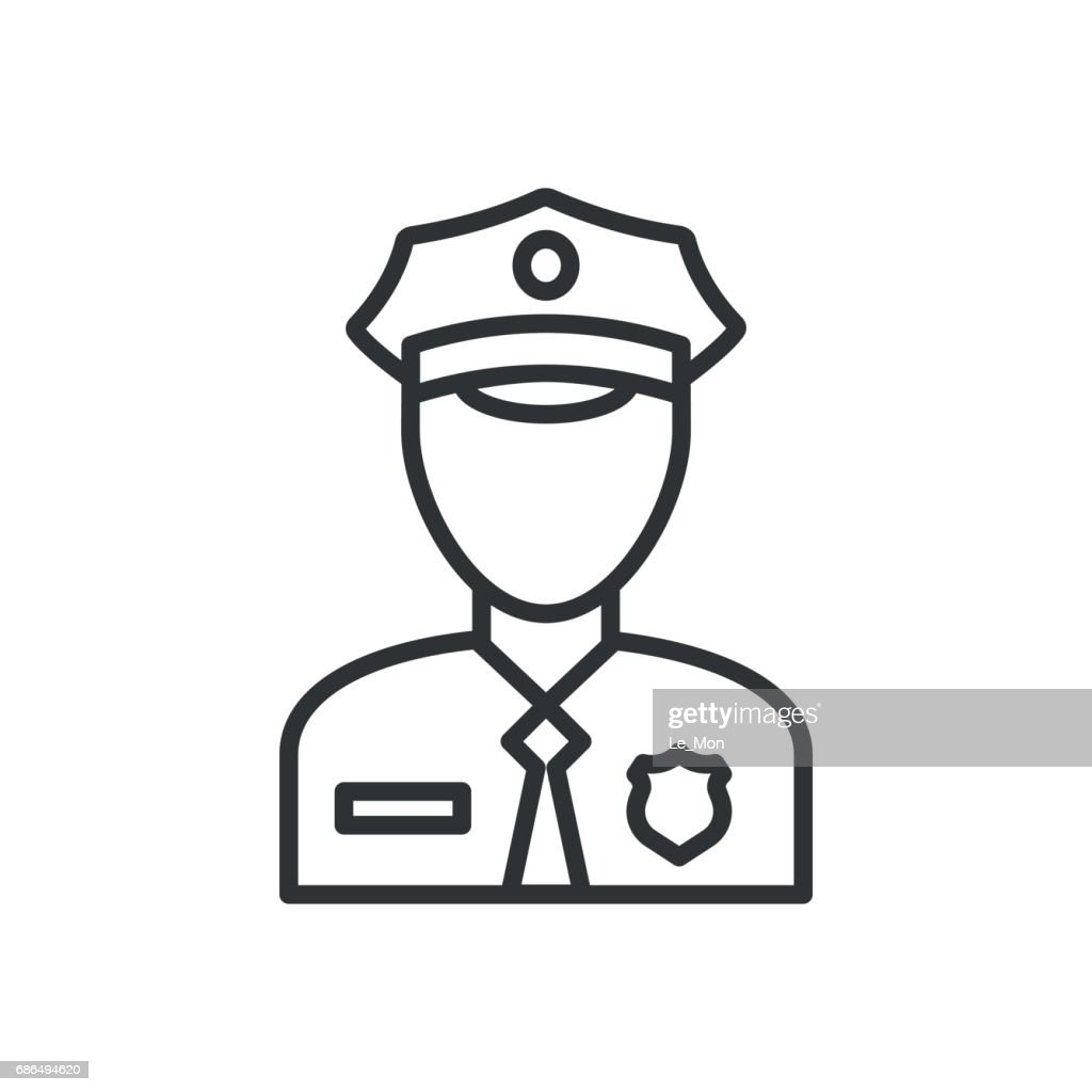 Police Icon vector. Policeman Officer avatar illustration