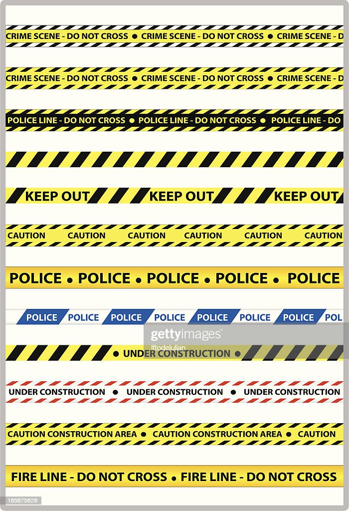 Police line : stock illustration