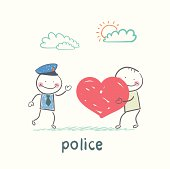 Police listen to a man in love