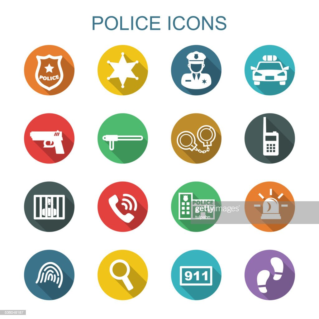 police long shadow icons