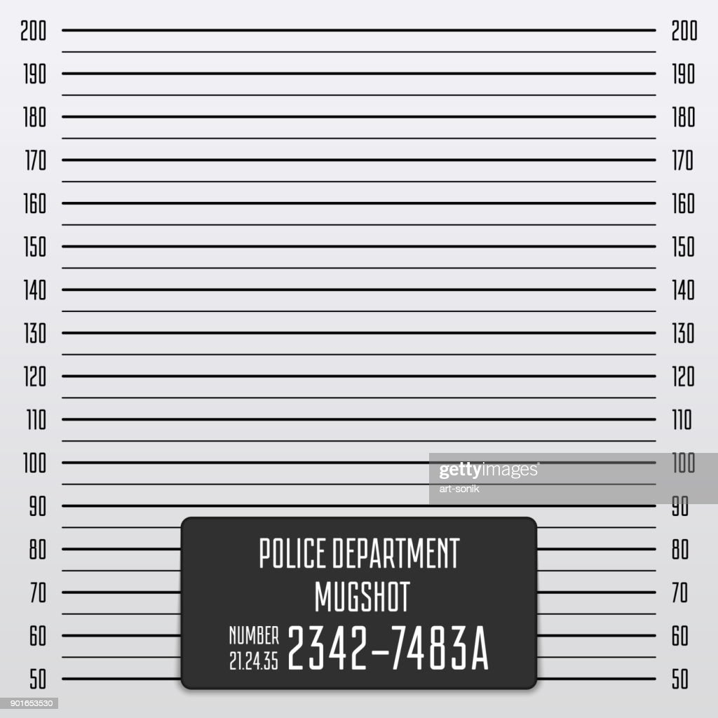 Police mugshot background.