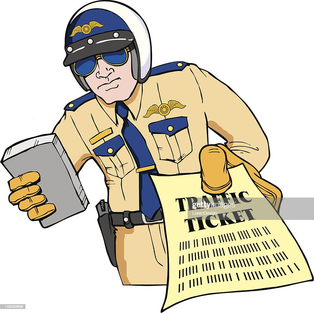 Police Officer giving traffic ticket