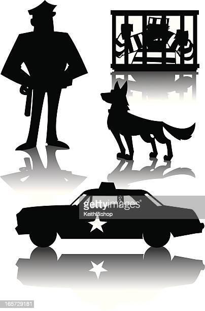 Polizist Recht Inforcement und Kriminalität, Gefangener, K-9