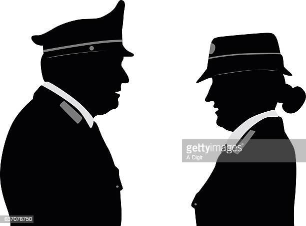 police profile italy - updo stock illustrations, clip art, cartoons, & icons