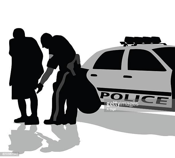 police searching civilian - arrest stock illustrations, clip art, cartoons, & icons