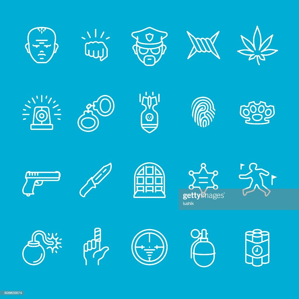 Police service and Security icons collection