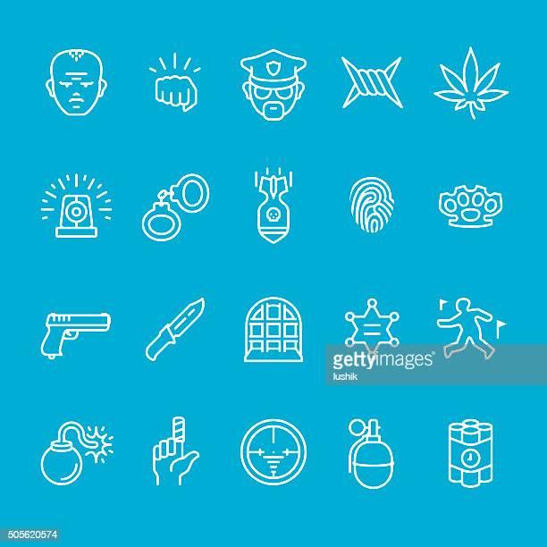 Polizei service und Sicherheit icons-Kollektion