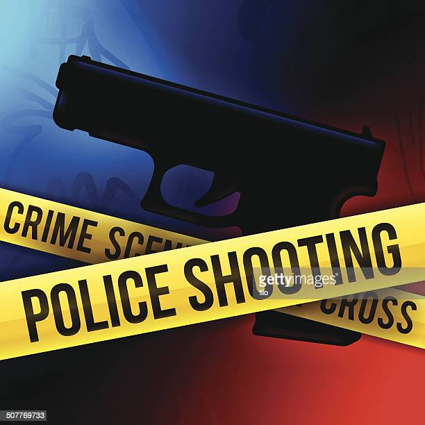 police shooting - more dead cops stock illustrations