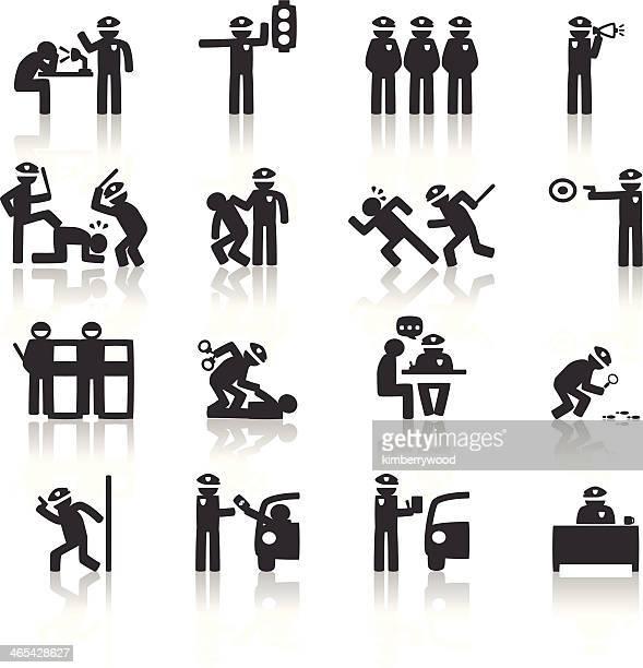 ilustraciones, imágenes clip art, dibujos animados e iconos de stock de de policía - stealth