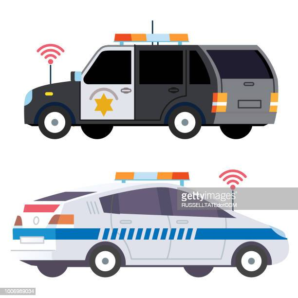 Police vehicles with scanners