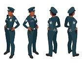 Police woman in uniform.