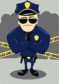 Policeman and Crime Scene