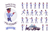 Policeman character creation set