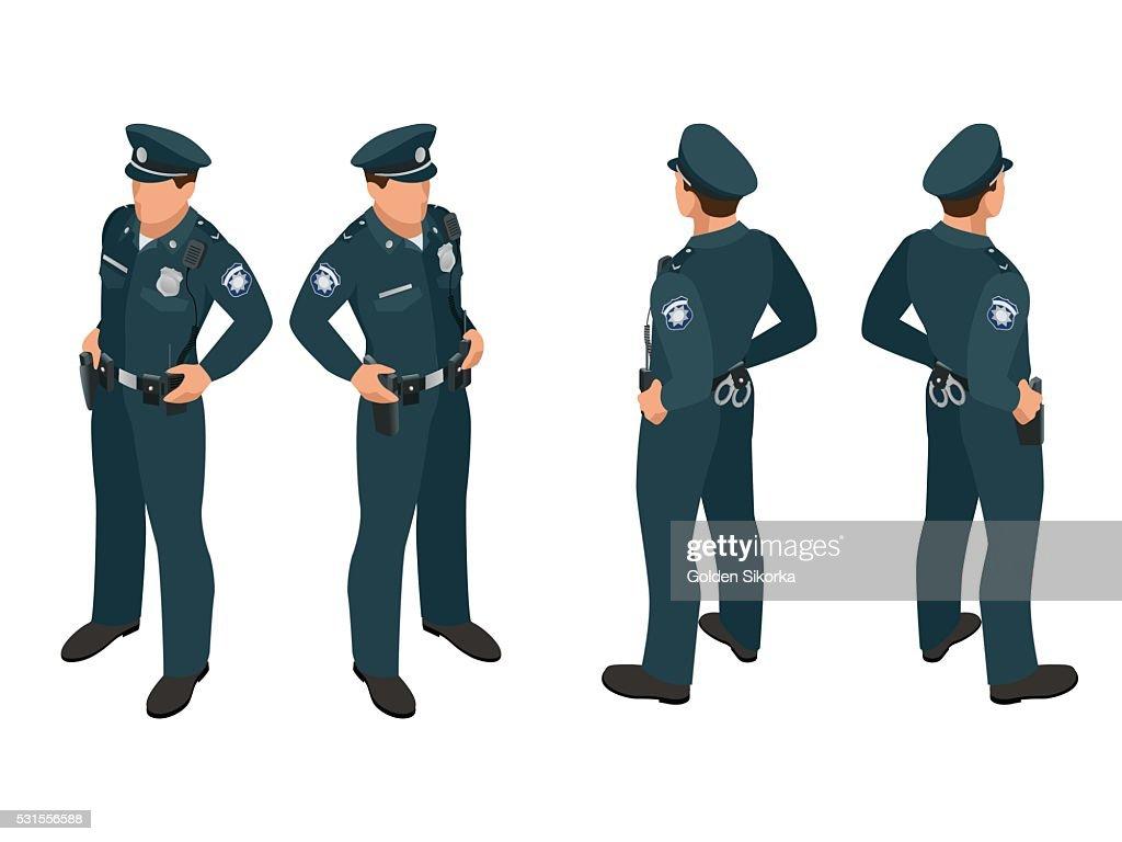 Policeman in uniform.