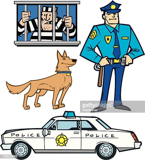 Polizisten, Gefangener, Notfall Fahrzeug K9