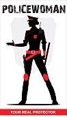 Policewoman. Riot Policewoman