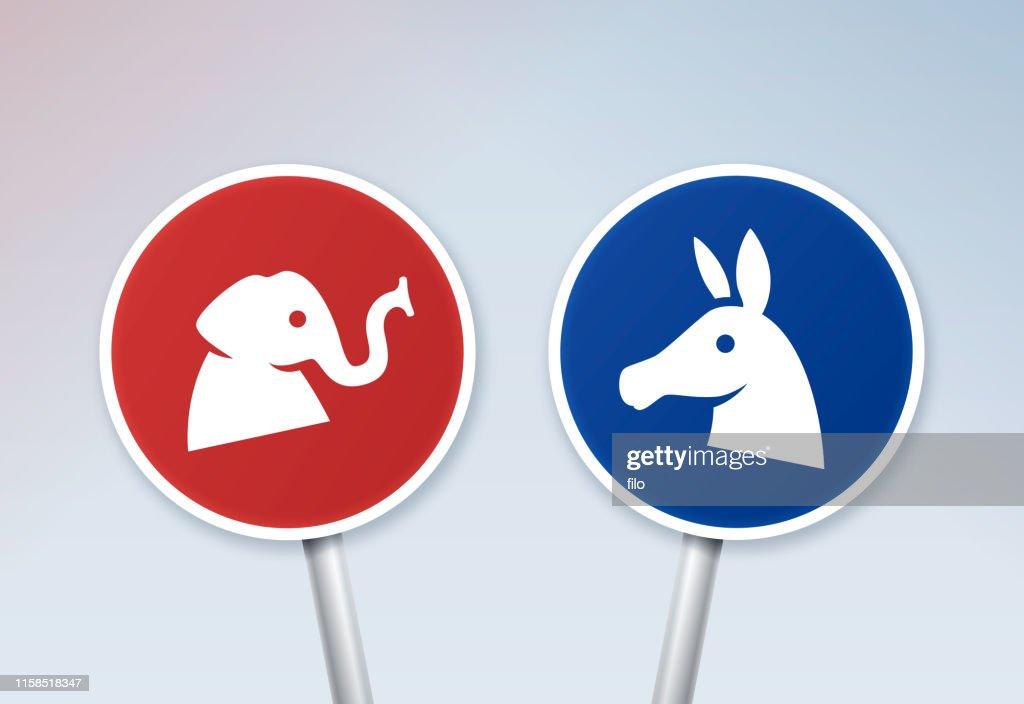 Segni del dibattito politico : Illustrazione stock