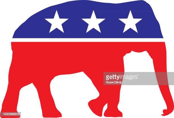 政治・選挙の象 - アメリカ共和党点のイラスト素材/クリップアート素材/マンガ素材/アイコン素材