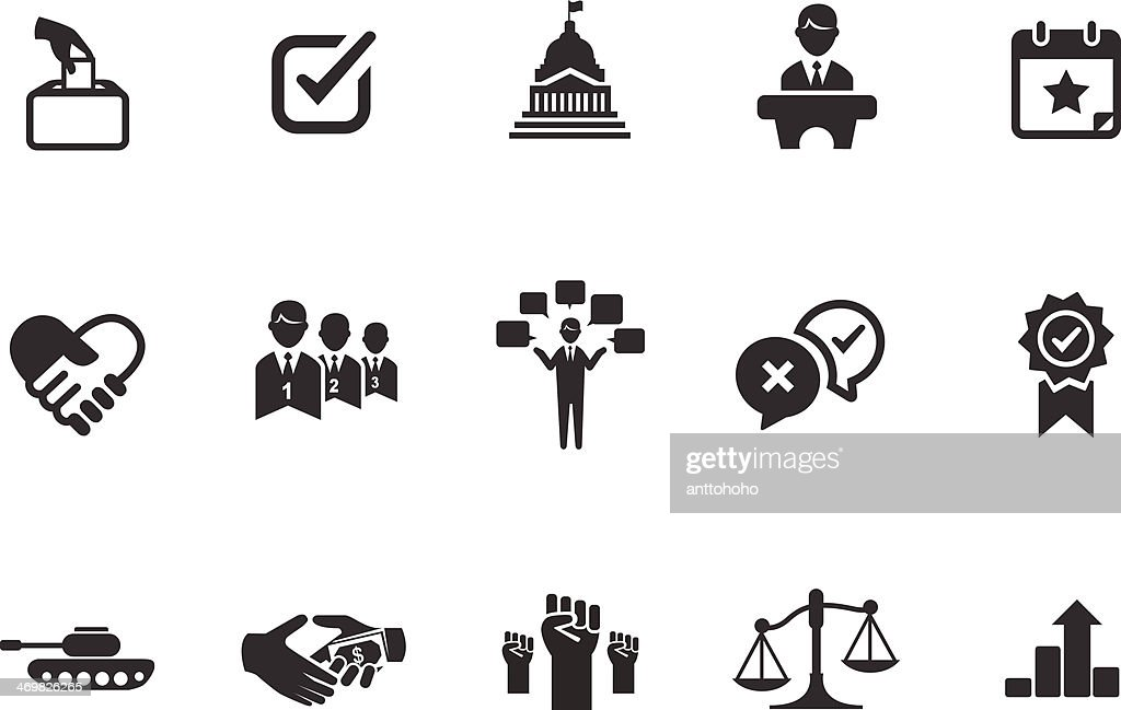 Political icons illustration