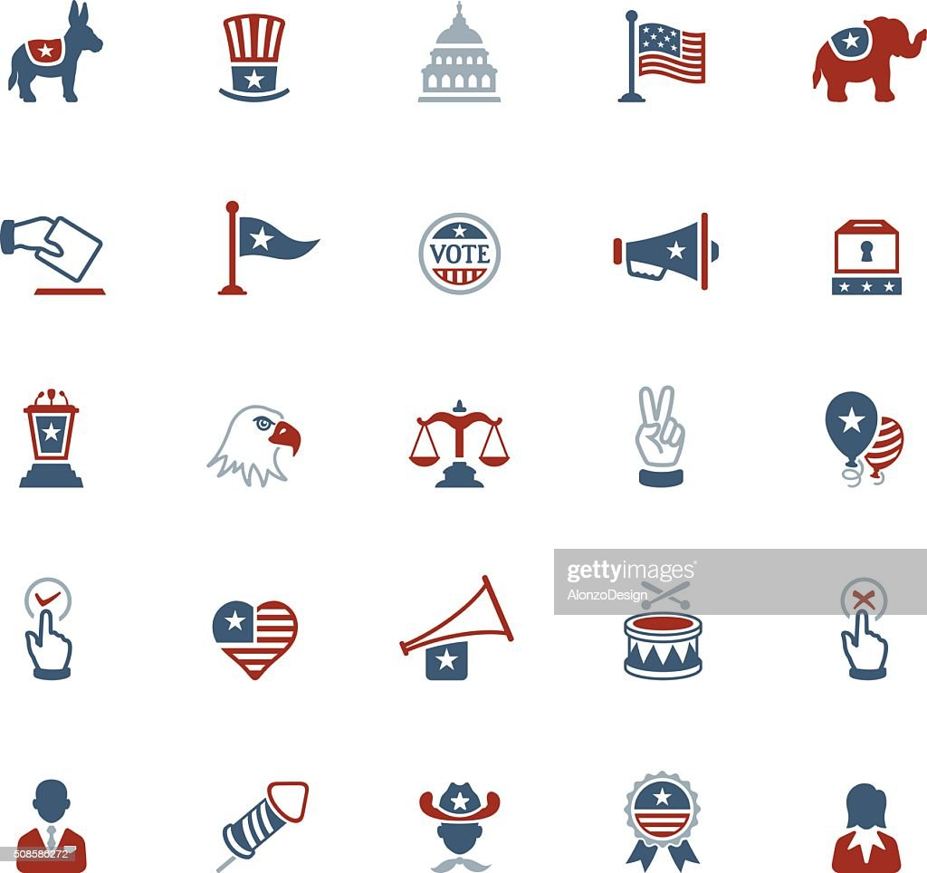 USA Political Icons