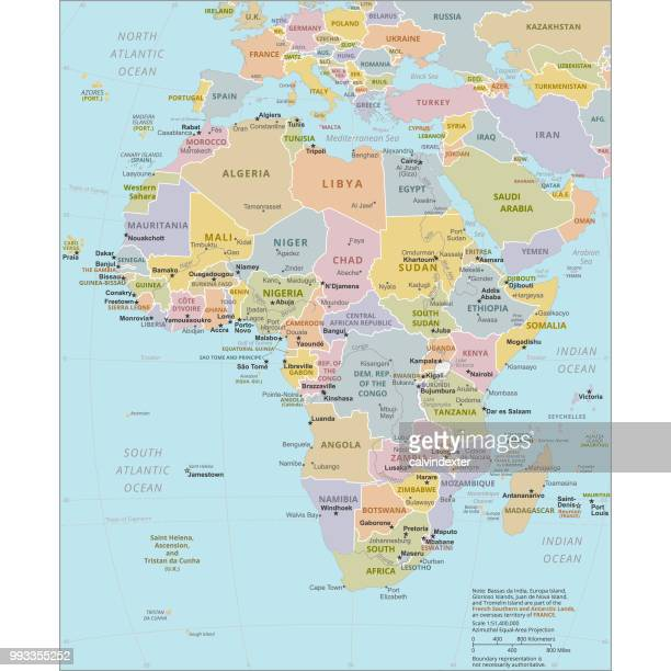 political map of africa - north africa stock illustrations
