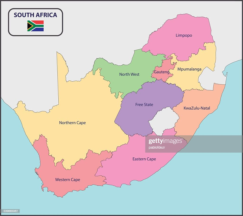 Political Map of South Africa with Names