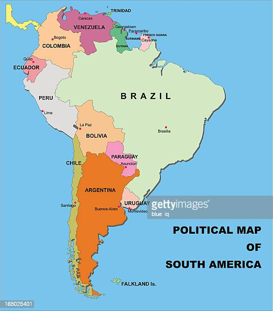 political map of south america in vector format