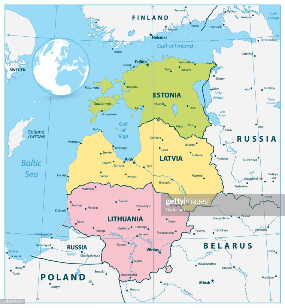 Political Map of the Baltic States