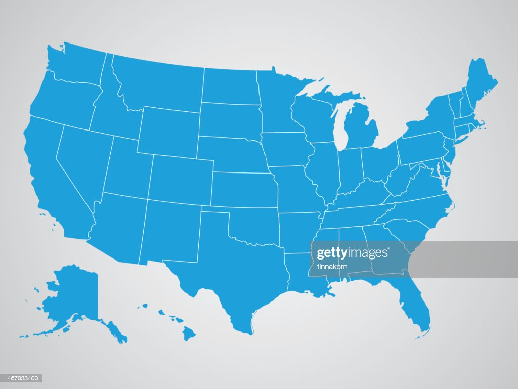 Political map of the United States of America
