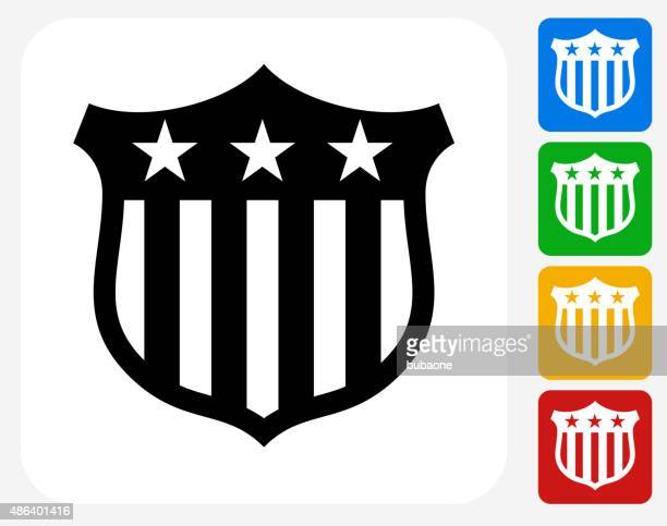 political shield icon flat graphic design - safety american football player stock illustrations, clip art, cartoons, & icons