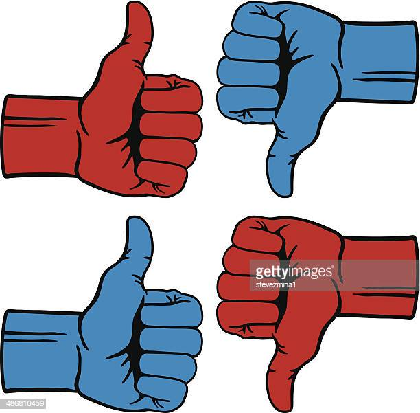 political thumbs - thumbs down stock illustrations