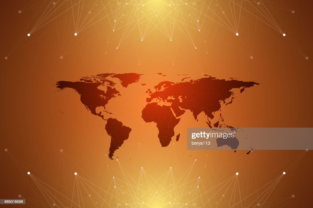 Political world map with global technology networking concept political world map with global technology networking concept digital data visualization lines plexus gumiabroncs Choice Image