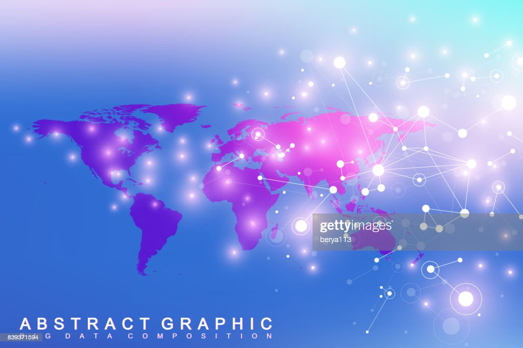 Political world map with global technology networking concept political world map with global technology networking concept digital data visualization scientific cybernetic particle compounds gumiabroncs Choice Image
