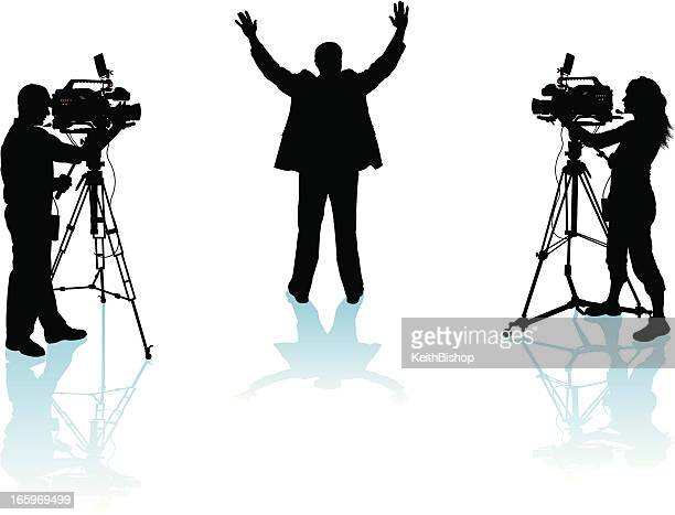 politician or public speaker - cinematographer stock illustrations, clip art, cartoons, & icons