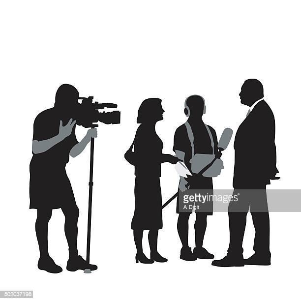 politician - film crew stock illustrations