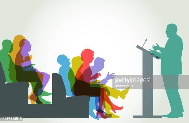 政治家討論 - 説教師点のイラスト素材/クリップアート素材/マンガ素材/アイコン素材