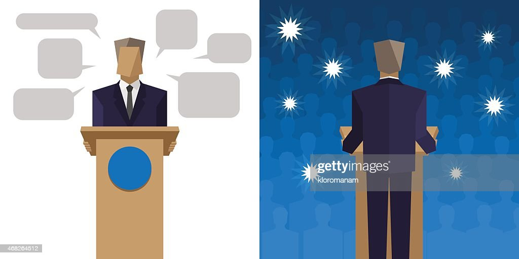 Politicians say it behind the podium before an audience