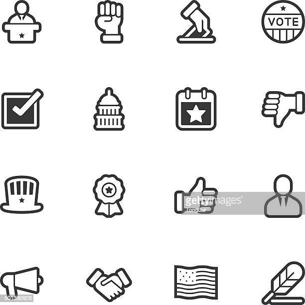 politics icons - regular outline - bill of rights stock illustrations