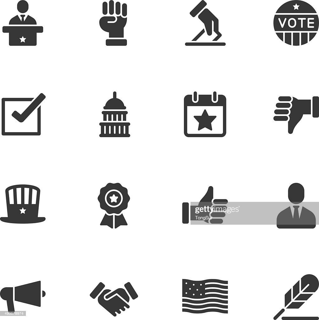 Politics icons - Regular : stock illustration