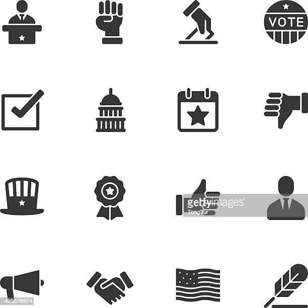politics icons - regular - bill of rights stock illustrations