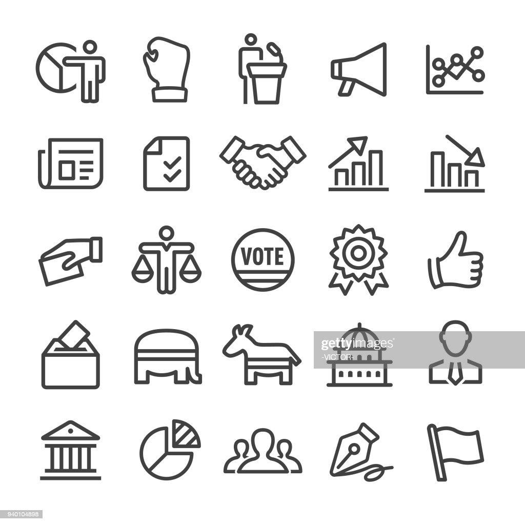 Politics Icons - Smart Line Series : stock illustration