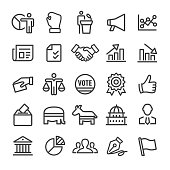 Politics Icons - Smart Line Series