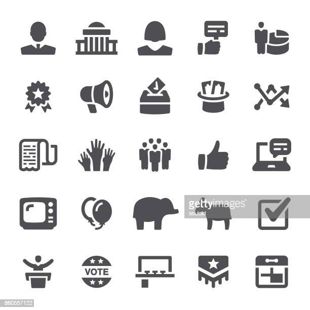 politics icons - political rally stock illustrations, clip art, cartoons, & icons