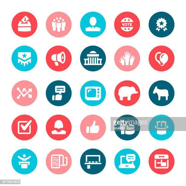 ilustraciones, imágenes clip art, dibujos animados e iconos de stock de iconos de la política - urna de voto