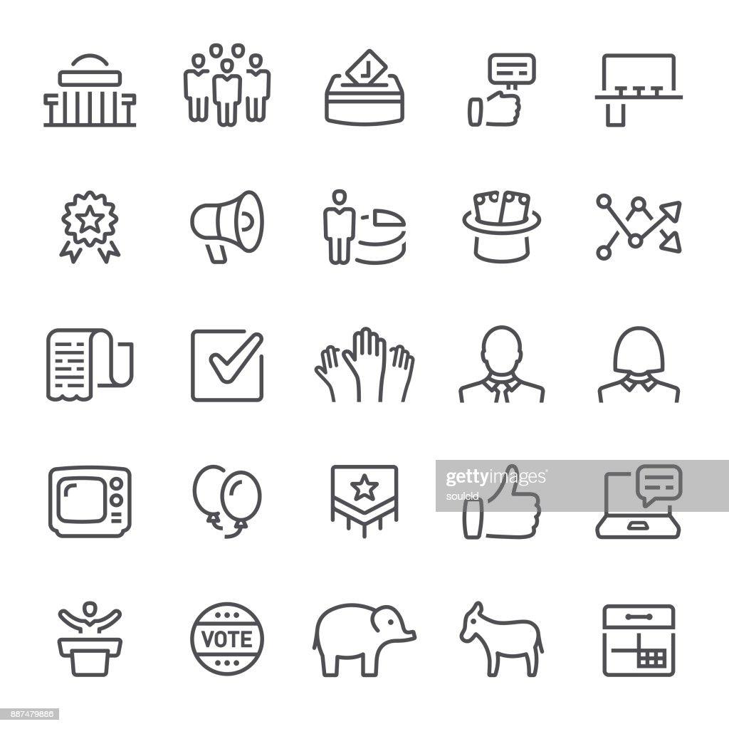 Politik-Symbole : Stock-Illustration