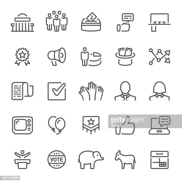 politics icons - government stock illustrations