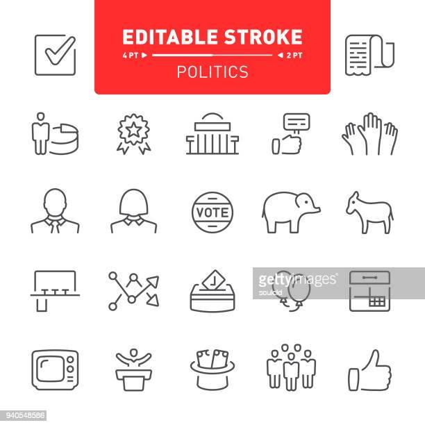 politics icons - politics icon stock illustrations